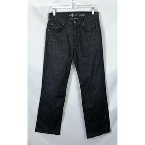 7 for all Mankind Dark Gray Austyn Straight Jeans
